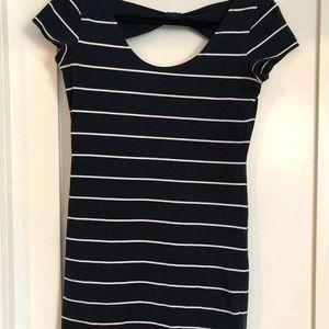 Striped Navy Mini Dress
